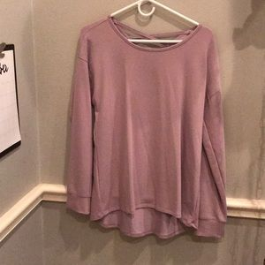 Lilac sweat shirt with cross straps on back